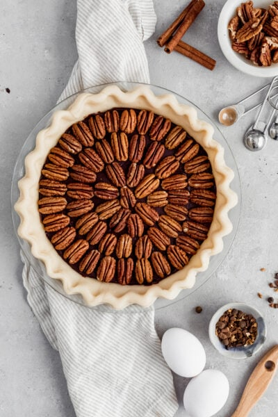 chocolate pecan pie, black bottom pecan pie