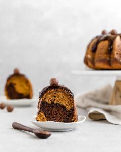 Pumpkin Chocolate Swirl Bundt Cake