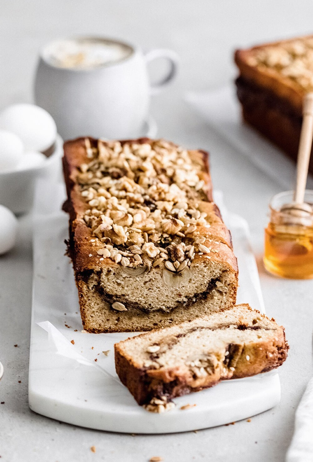 cinnamon swirl brown butter banana bread