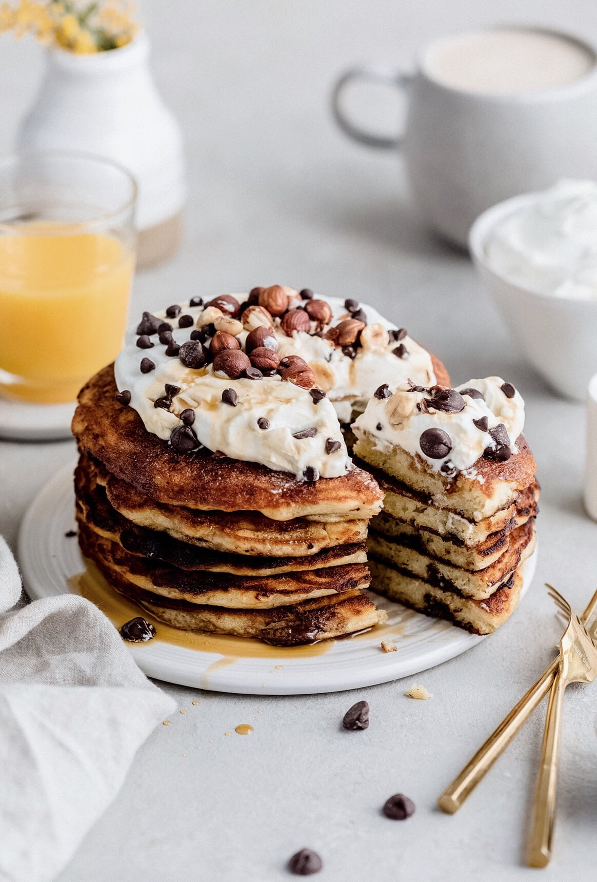 Fluffy Chocolate Chip Pancakes Yoga Of Cooking