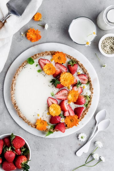 vegan white chocolate tart