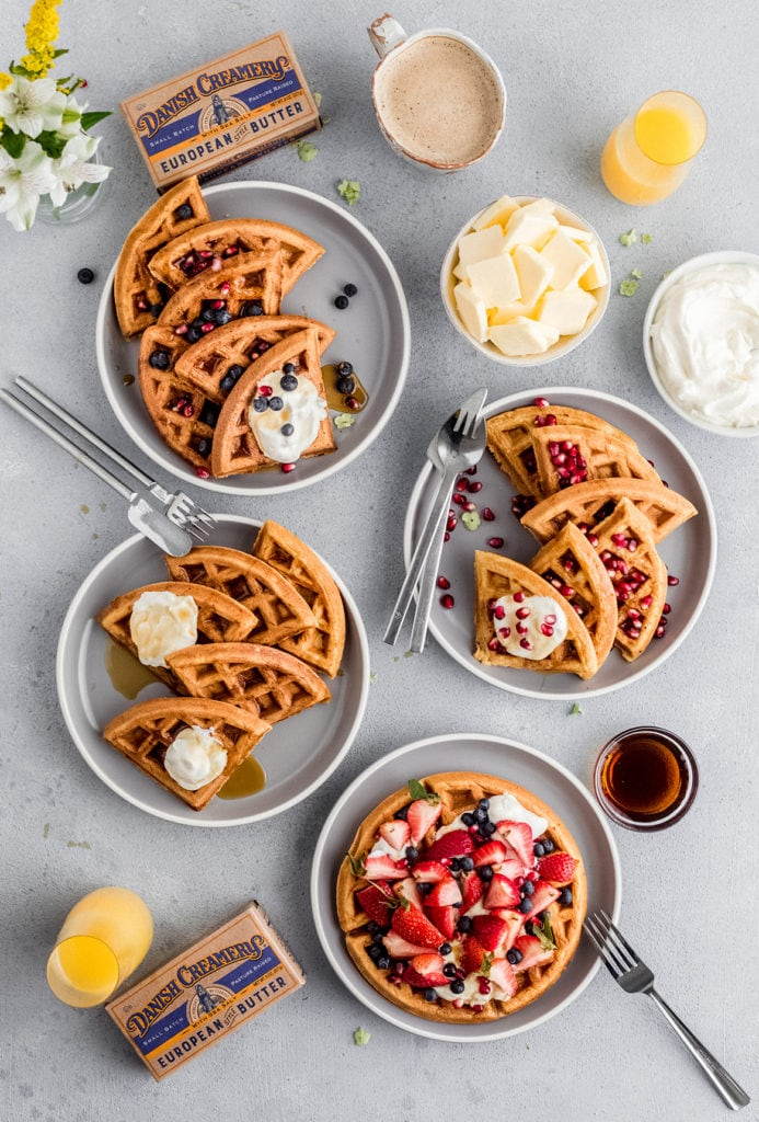 browned butter belgian waffles