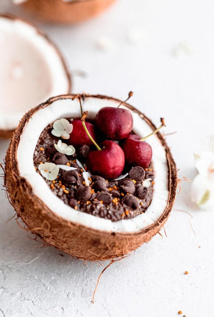 coconut chocolate chia pudding