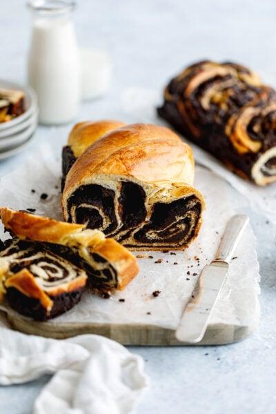 chocolate brioche babka