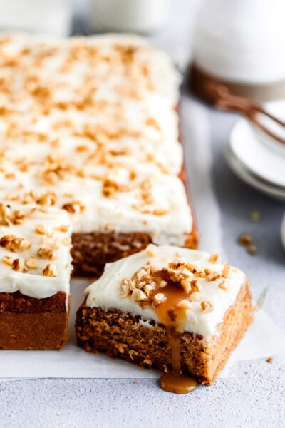 slice of healthy carrot cake