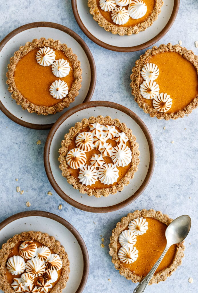 Mini pumpkin tarts bursting with fall flavors and infused with CBD oil.