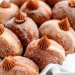close up of churro donuts