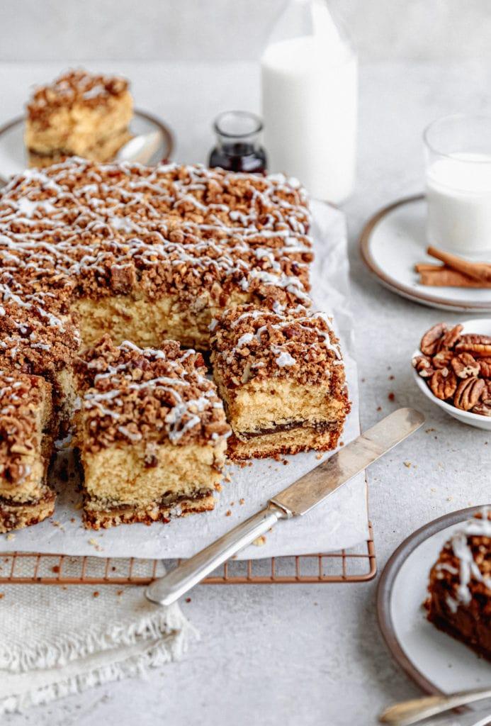 maple pecan coffee cake pieces