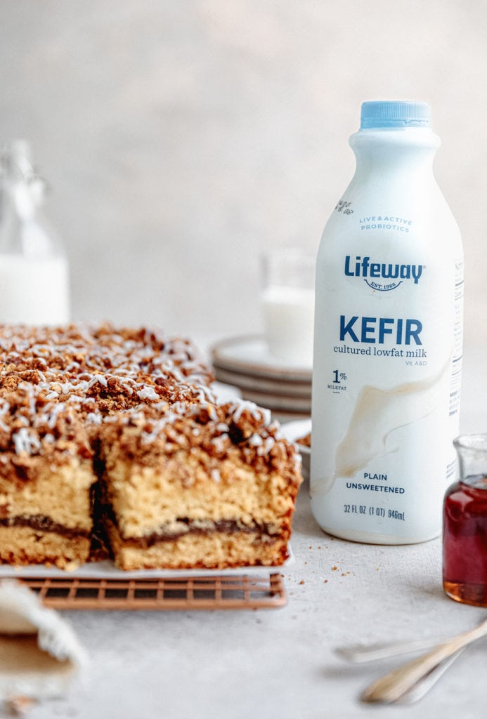 maple pecan coffee cake with kefir