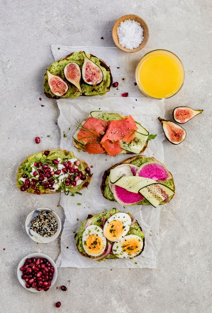 avo toast toppings