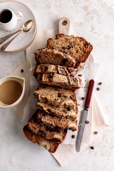 tahini espresso banana bread
