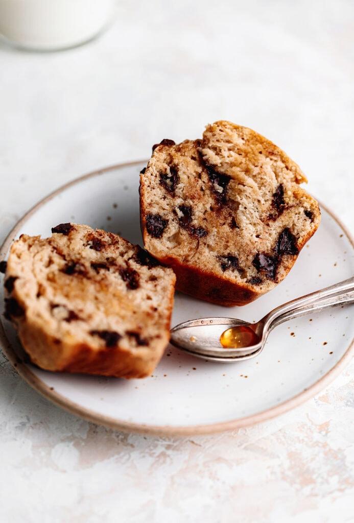 chocolate chunk banana nut muffins