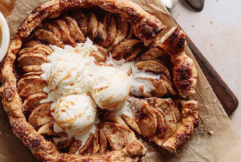 Easy Puff Pastry Apple Galette
