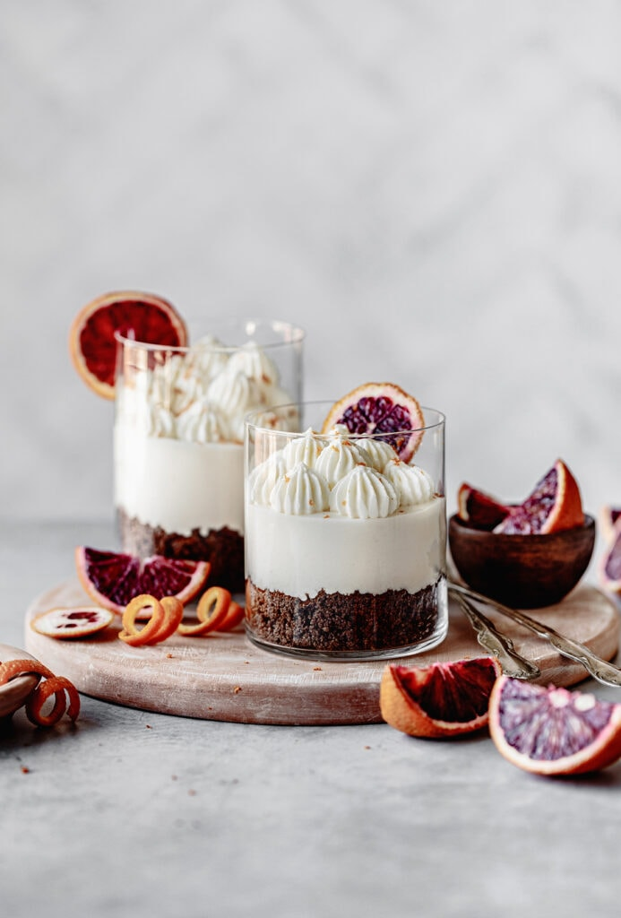Mini Chocolate Blood Orange Pies