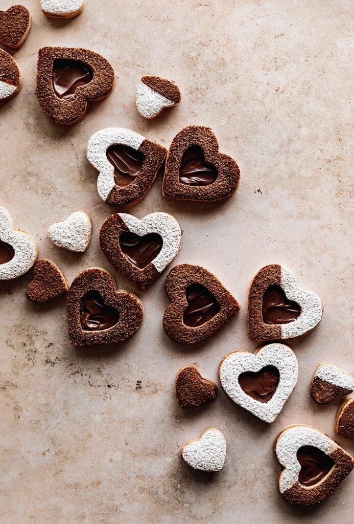 Nutella Linzer Heart Cookies