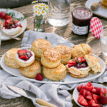 strawberry shortcakes with whipped labneh and preserves