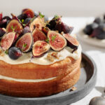 fig and almond 2 layer cake
